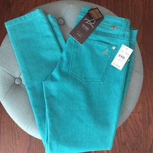 NWT DL1961 turquoise Emma jean leggings